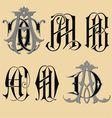 vintage monogram aaabacad tattoo vector image
