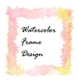 Watercolor frame design vector image