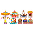 Children playing in the park and many games vector image