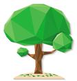 tree polygon b vector image vector image