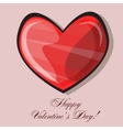 Red heart classic valentines day vector image