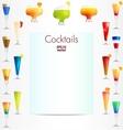 Cocktails backgound vector image vector image