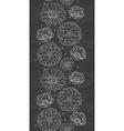 Chalk flowers blackboard vertical border seamless vector image