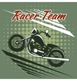 Classic motorcycle race team design vector image