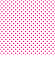 Tile pattern pink polka dots on white background vector image vector image