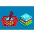 modern 3d isometric app shop vector image vector image