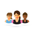 a group of three women cartoon vector image