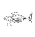Abstract of a fish vector image
