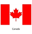 Flag of the country canada vector image