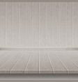 grey wooden wall and floor vector image