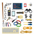 hacker icons set thief accessories vector image