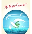 My Best Summer vector image