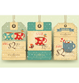 Set of Tags with Coffee Cups vector image