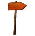 A signboard arrow made of wood vector image vector image