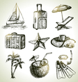 Travel set hand drawn objects vector image vector image