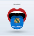 electoral vote of oklahoma abstract mouth vector image
