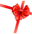 red bow isolated on white vector image vector image