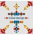 Geometric hipster tribal bright pixel design vector image