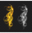 Translucent colored smokes vector image