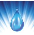 drop of water vector image