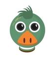 duck animal farm isolated icon vector image