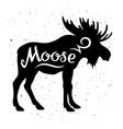 moose silhouette 002 vector image