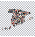people map country Spain vector image