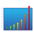 Profit and commerce chart vector image