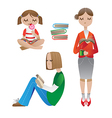 reading people vector image