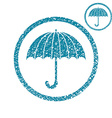 Umbrella simple single color icon isolated on vector image