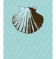 Vintage card with hand drawn shell vector image