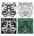 Vintage dragons celtic decorative ornament vector image