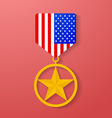 USA star medal congratulation icon American vector image