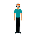 in modern flat style - guy vector image