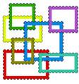 postage stamps frames vector image vector image