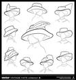 Woman vintage hats vector image