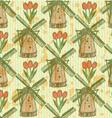 Tulip Windmill vector image