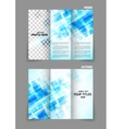 digital tri-fold brochure with squares vector image vector image