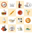 Cooking Food Icons Set vector image