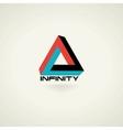Conceptual infinity symbol icon template logo vector image