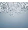 Grey christmas background vector image