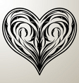 heart floral ornament vector image