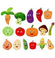 Cute vegetable cartoon character vector image