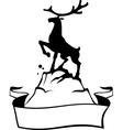 reindeer banner vector image