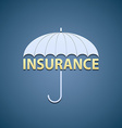 umbrella and the word insurance vector image
