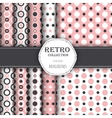 Collection of seamless patterns with polka dot vector image