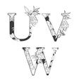 flower alphabet vector image
