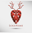 abstract logo with deer head modern style vector image