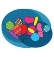 balloons design set vector image