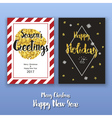 Christmas poster template with glitter decoration vector image